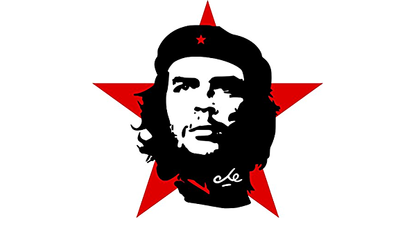 Etaia 15x15 Cm Auto Aufkleber Che Guevara Roter Stern Revolution Kuba Cuba Sticker Motorrad Lkw Caravan Auto