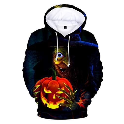 Writtian Herren Damen Unisex Cosplay Horror Schädel Geister Individualitäl Hoodie 3D Druck Pullover Sweatshirt Jacke Halloween Kostüm Bedruckte Tunnelzug Pullover Mit Taschen - Coole Halloween Kostüm Selbstgemacht