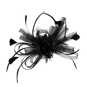 Baoblaze Mesh Bowknot Feder Stirnband Fascinator Hochzeit Royal Ascot