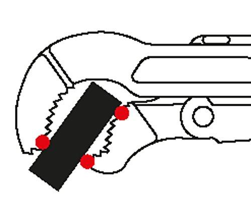GEDORE Eck-Rohrzange 2 Zoll, 1 Stück, 9100 2K 2