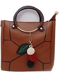 Tuankay Velvet Round Handbag Women Sling Phone Bags Ladies Purse Shoulder Bag Pink