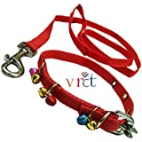 VRCT Nylon Puppy Dog Collar Belt and Leash (Extra Small) (Assorted Color)