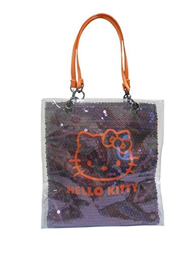Bonjour Kitty pourpre et orange Petit sac à main brillant Sequinned