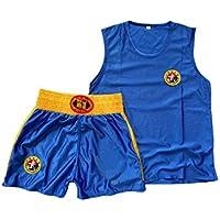 Fulision Adulto Ropa de Entrenamiento Ropa de Deporte Niña Chico Artes Marciales Ropa Pantalones Cortos Formación RopaLuchaMuay Thai Traje