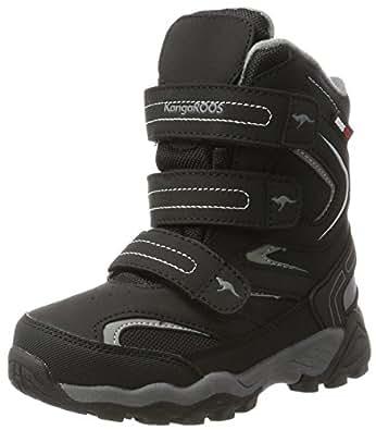 KangaROOS Unisex-Kinder Reen Schneestiefel, Schwarz (Jet Black/Steel Grey), 30 EU
