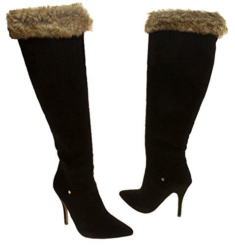 Femmes RAVEL Faux suède fourrure surmonté bottes hautes