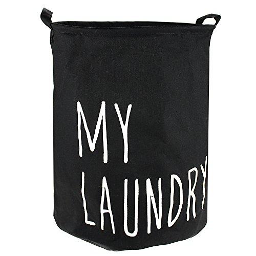 Cesta para la colada, nmkj plegable para la ropa sucia cesta para la colada cesta para la colada Artículos. Bolsa–perfecto para la universidad dormitorios, habitación de los niños y cuarto de baño negro negro