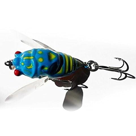 Zikade Fischerei lockt Bass Kurbel Köder 4cm Float Köder 1PCS Vierfarb Top Insekten NEW