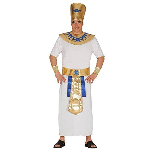 Herren Karneval Fasching Motto Party Ägypten Herrscher Gr. M-XL, Größe:L (Edle König Erwachsenen Kostüme)