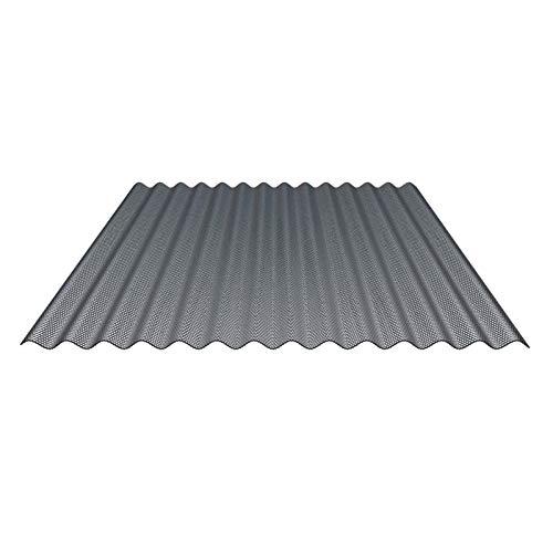 Lichtplatte   Wellplatte   Lichtwellplatte   Material Acrylglas   Profil 76/18   Breite 1045 mm   Stärke 4,5 mm   Farbe Perlgrim Grau   Wabenstruktur