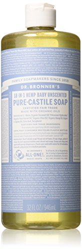 414zPB22GhL - Dr Bronner'S | Baby Castile Liquid Soap | 1 x 946ml