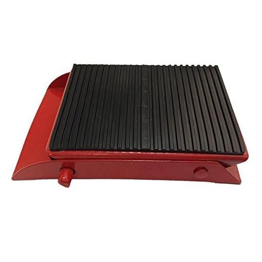2X cuneo bloccaruota metallo pieghevole ruota cuneo pattino del freno rosso