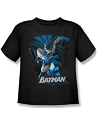 Justice League - Batman Blue & Gray Juvy T-Shirt In Black
