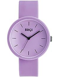 Mango A68356LP10I - Reloj para mujeres, correa de silicona color morado