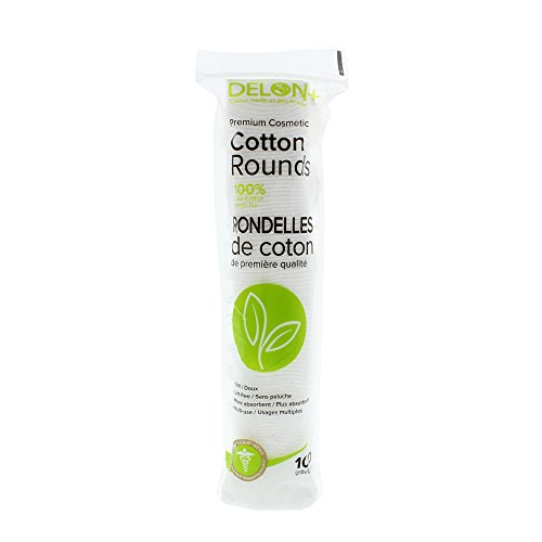 Delon Lot de 100 rondelles 100% coton