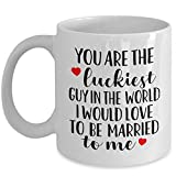 Best Funny Guy Mugs Gifts For Your Husbands - Funny Gift for Husband - You're The Luckiest Review