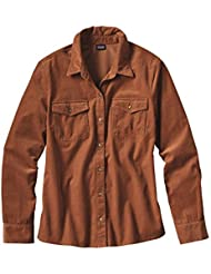 Patagonia W's L/S Micro Cord Shirt Woodland Grove: Navy Blue