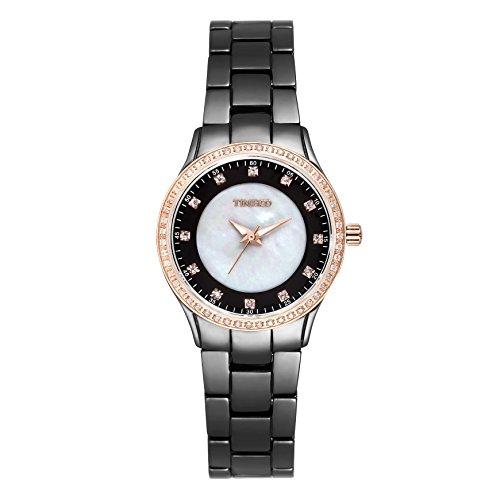 Time100 Armbanduhr Damenuhr Quarzuhr Mädchenuhr Keramik Band #W50375L.03A