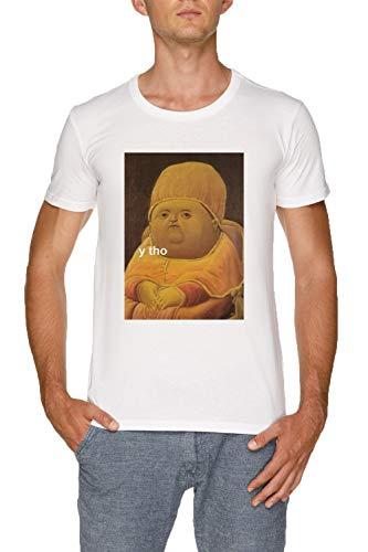 Y THO Herren Weiß T-Shirt Größe S | Men's White T-Shirt Size S