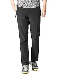 BMEIG Pantalón de Senderismo para Hombres Secado rápido Transpirable - Pantalones livianos para Caminar Bolsillo con
