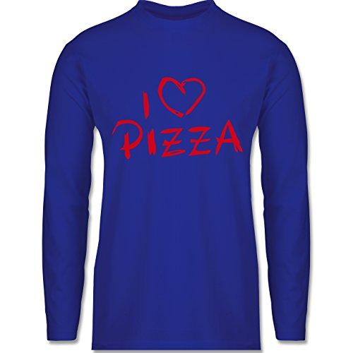 Shirtracer Küche - I Love Pizza - Herren Langarmshirt Royalblau