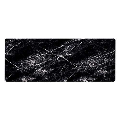 Heromck Mauspad XL Extended Marble Extra Large Gamer Laptop Tastatur Mauspad Riesige G Matte Wasserdicht Oversized Dicke Pads Riesen-Gaming X L Xlmousepad Gamer Mauspad 29,5 x 80 x 0,3 cm schwarz -