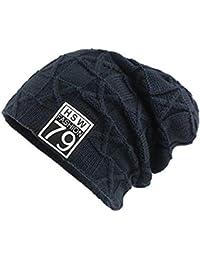 AiNaMei Cappello da Uomo in Maglia di Lana per Uomo Outdoor Plus 7b0c750679ce