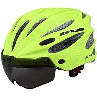 MIRACLEM Gafas De Ciclismo Magnético Casco/Bicicleta De Montaña 17 Hoyos Casco De Ciclismo Transpirable,Green