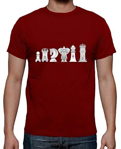 Camiseta Hombre Ajedrez Modernista - Varios colores / Varias Tallas