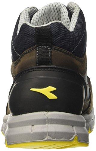 Diadora Unisex-Erwachsene Run High S3 Arbeitsschuhe Braun (Marrone Scuro/blu Maiolica)