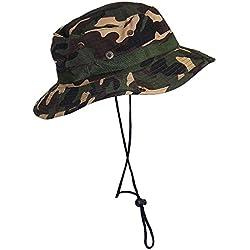 TININNA Camuflaje Sombrero Táctico SWAT Color Wear Woodland Camo Boonie Selva Gorra para Wargame Deportes Acampar Caza Pesca Actividades al Aire Libre Sombrero Hat-Camuflaje 1#