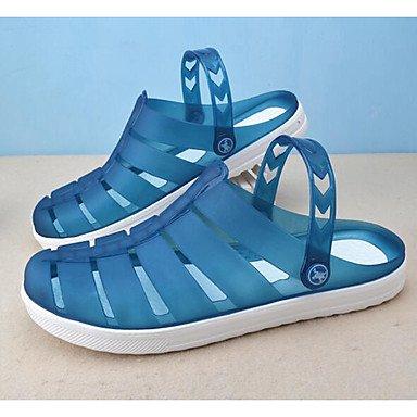 Hommes Sandales Chaussures trou confort décontracté Ressort en caoutchouc bleu royal bleu marine Kaki Télévision Navy Blue