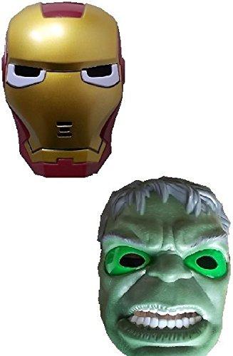 Stück neue Hulk Man und neue Iron Maske mit LED Beleuchtung für (Spiderman Kostüm Iron)