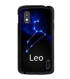 Printvisa 2D Printed Sunsign Leo Designer back case cover for LG Nexus 4 E960 - D4469