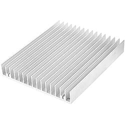 TOOGOO£¨R£©Plata Tono Aluminio El Calor Difuso Disipador Calor Refrigeracion Aleta 120x100x18mm