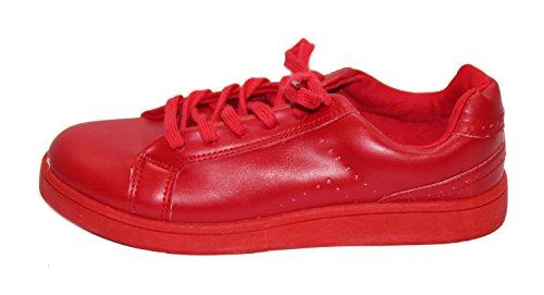 Tennis streetwear pour femme Rouge