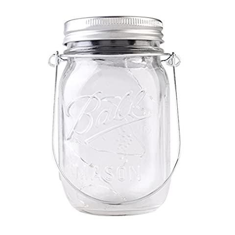 Solar-powered Mason Jar light (Mason Jar & Metal Handle Included),10