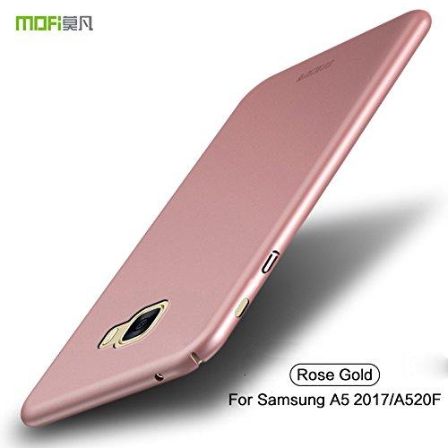 Funda Samsung Galaxy A5 2017 / A520F - BCIT Samsung Galaxy A5 2017 / A520F Carcasa [Ultra-Delgado] [Ligera] Anti-rasguños Estuche para Samsung Galaxy A5 2017 / A520F - Rose Oro