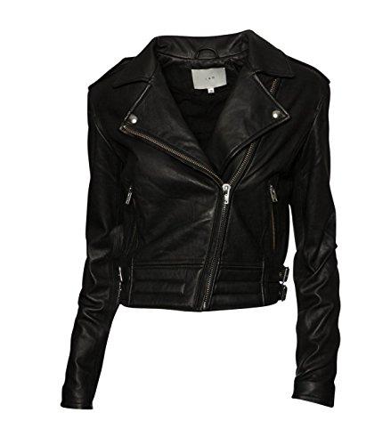 IRO Damen Lederjacke Gipsy Bikerjacke Jacke Leder - Leder - schwarz 01 black 40