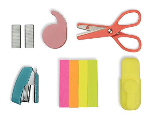 NPW NPW52961 Mini Schreibmaterial Hefter Schere Set für die Schule Bürowerkzeug-Kit Vibe Squad