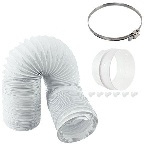 spares2go Vent Schlauch & Extension Ring Kit für Clatronic Belüftete Trockner (10,2cm/100mm Durchmesser) -