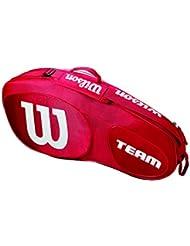 Wilson Damen/Herren Tennis-Tasche, für Spieler Aller Spielstärken, Team III 3 PK, Einheitsgröße, grün/schwarz, WRZ854803