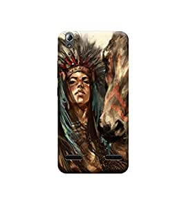 Ebby Premium Printed Back Case Cover With Full protection For Lenovo A6000 (Designer Case)