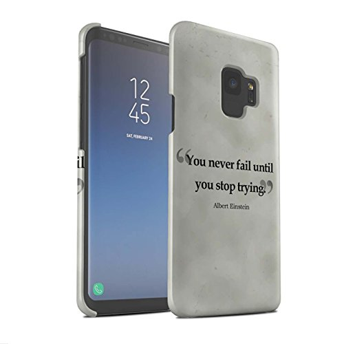 Stuff4® Matte Snap-On Hülle/Case für Samsung Galaxy S9/G960 / Albert Einstein Muster/Berühmte Zitate Kollektion Albert Muster