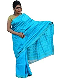 The Wardrobe Women's Bhagalpuri Slik Saree(TW005_Blue_Freesize)