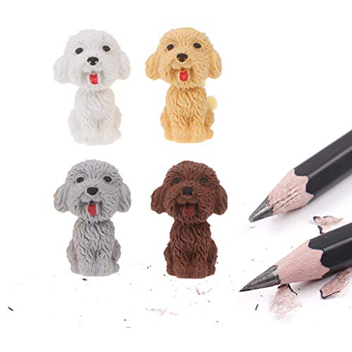 lailongp Mini 3D niedlichen Cartoon Hund Gummi Radiergummi, Schüler koreanische Schreibwaren Korrekturzubehör für Kinder Weihnachtsgeschenke