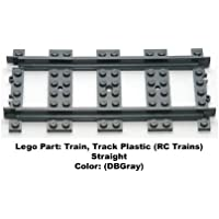 Lego Parts: Train, Track Plastic (RC Trains) Straight (DBGray) - Compare prices on radiocontrollers.eu