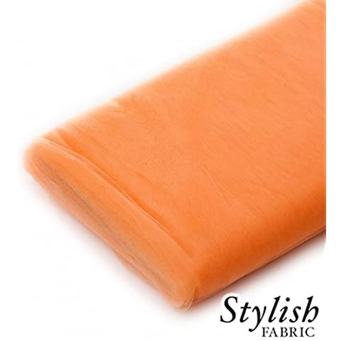 Light Orange Tulle Fabric - 40 Yards Per Bolt by Stylishfabric - Tessuto Di Tulle Bolt
