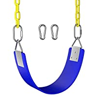 OTEKSPORT Swing Seat Heavy Duty Chain Plastic Coated for Children and Adult, Outdoor and Indoor Accessories Swing Set, 660 LB Weight Limit
