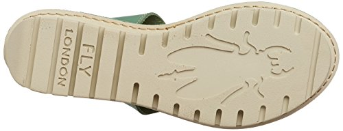 FLY London Kiba465, Sandales Bride Cheville Femme Vert (Mint 005)